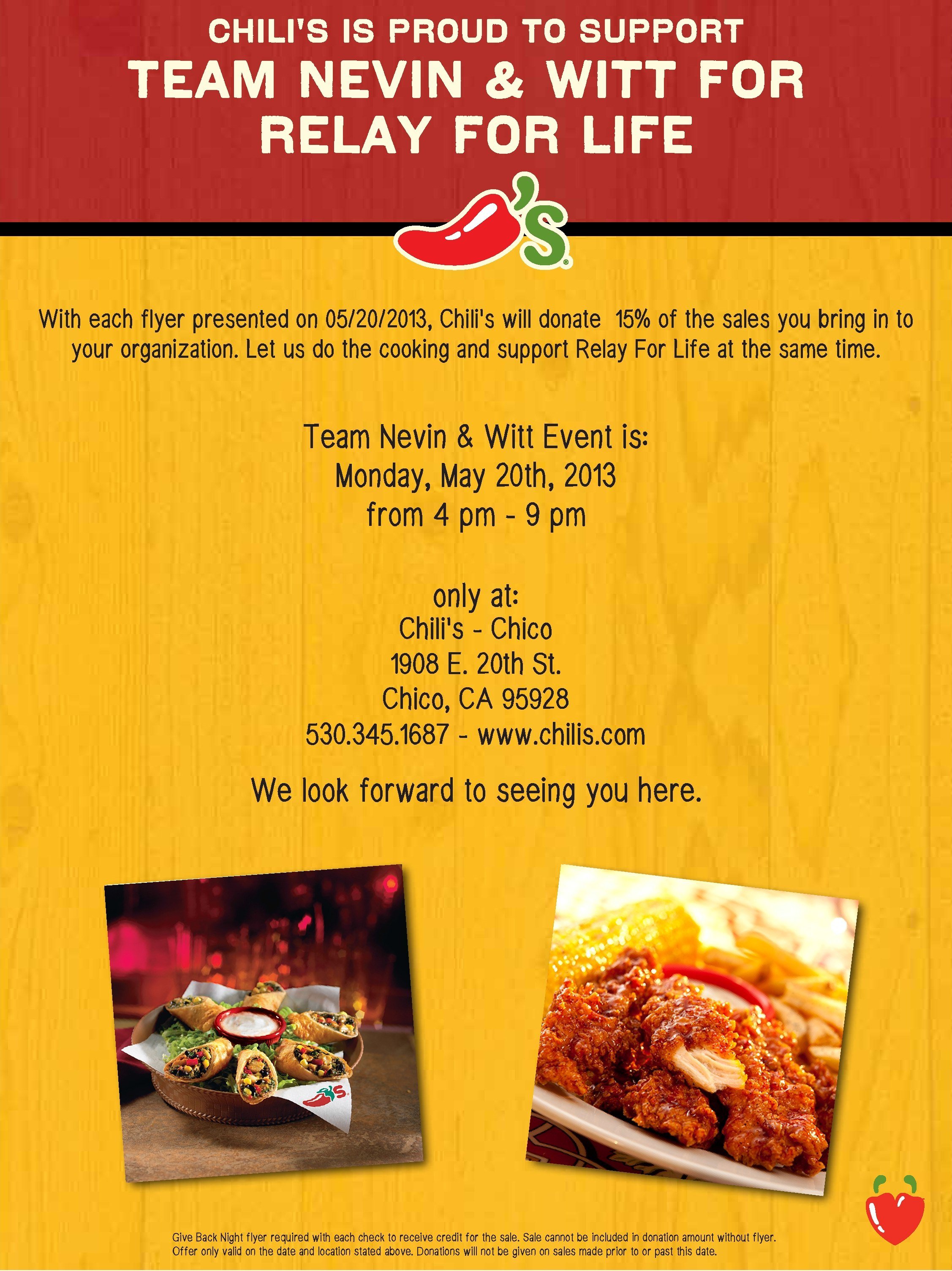 Chili's Giveback Night